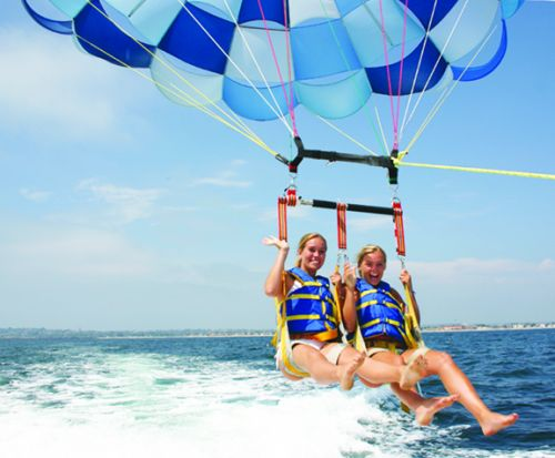 Girls Parasailing