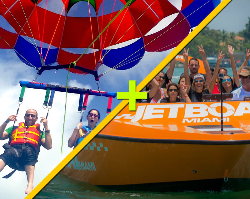 parasailing in Miami and Jet-boat Ride combo