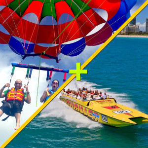 parasailing-in-Miami-and-speed-boat