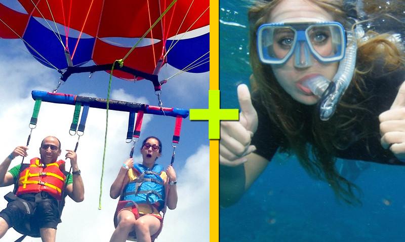 Parasailing + Snorkeling $125