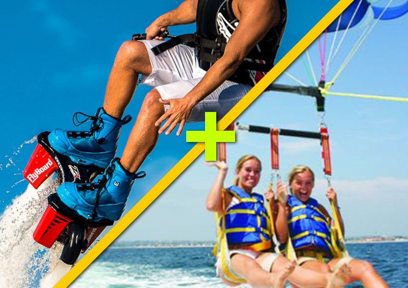 Fly board & Parasail $170